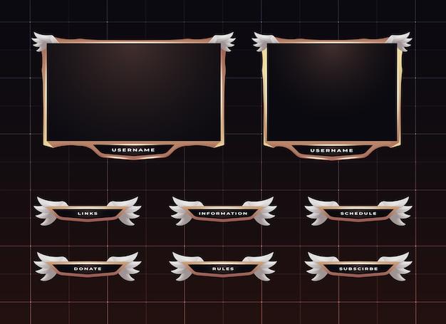 Set di design del pannello di streaming twitch