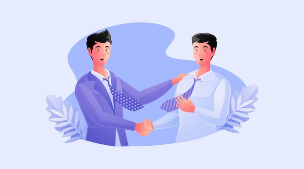 Una stretta di mano di due partner commerciali