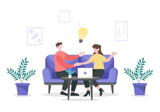 Due uomini d'affari raggiungono un accordo o un accordo stringendo la mano sul contratto di cooperazione come partner di successo. illustrazione vettoriale di sfondo