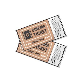 Due biglietti per il cinema. biglietto per l'ingresso all'evento