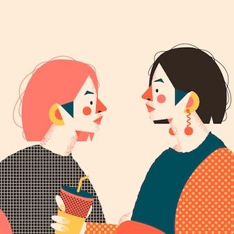 Due ragazze. alla moda
