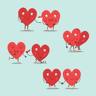 Due cuori felici innamorati