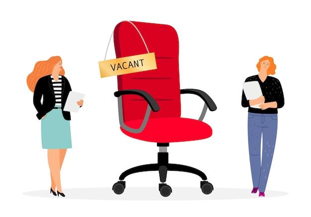 Due persone in cerca di lavoro per un posto vacante.
