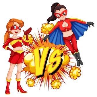 Due supereroi che combattono tra loro