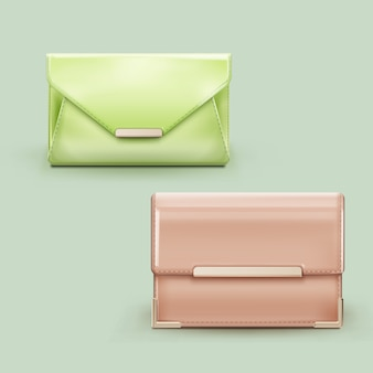 Due classiche pochette da donna color pastello