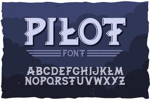 Carattere tipografico pilota carattere moderno