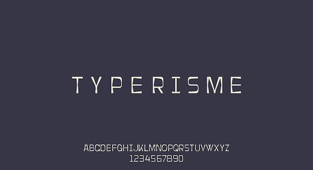Typerisme, un carattere di macchina da scrivere, design tipografico vintage retrò grunge ..
