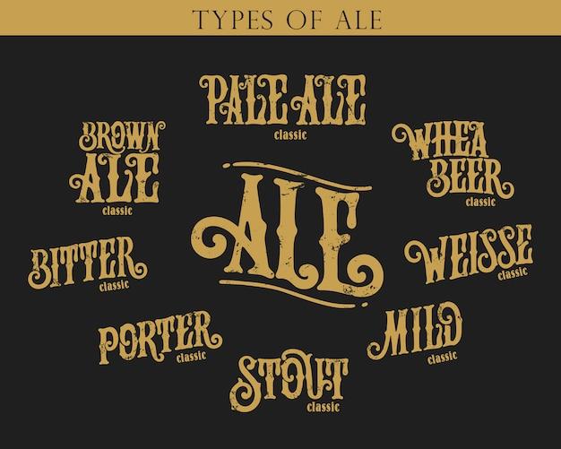 Tipi di birra set