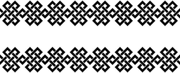 Tipico egiziano assiro e motivi greci trama bordo o cornice chiave greca