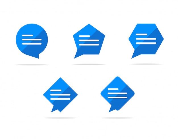Digitando un'icona a forma di bolla di chat, simbolo del segno di commento