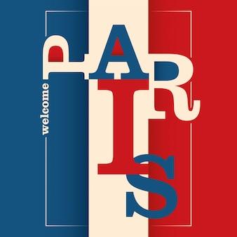 Sfondo tipografico di parigi