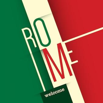 Sfondo tipografico di roma