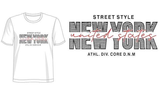 Design tipografico per magliette stampate e altro ancora Vettore Premium