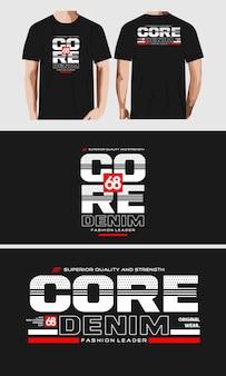 Design tipografico per maglietta stampata