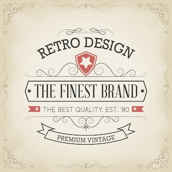 Disegno di logo di tipografia in stile retrò