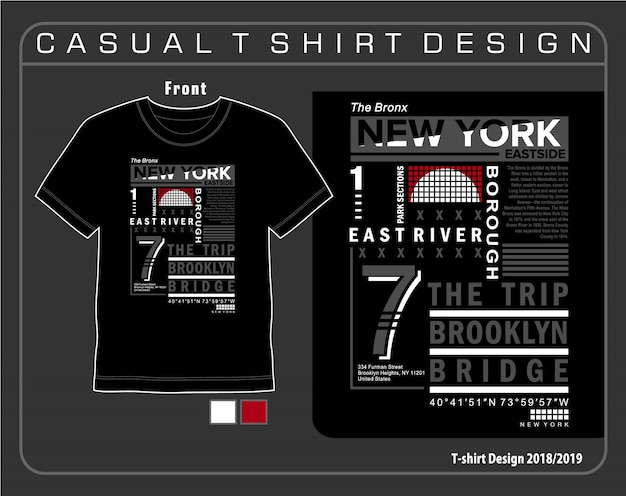 Grafica t-shirt tipografia