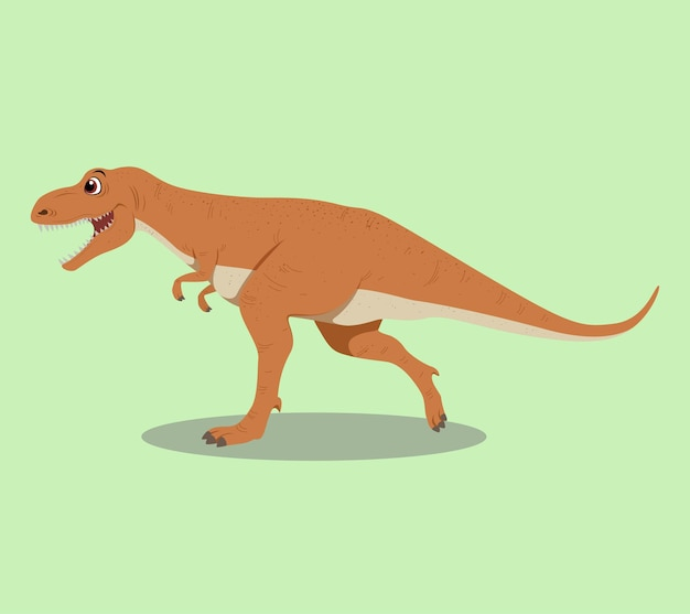 Tyrannosaurus rex cartoon illustration design