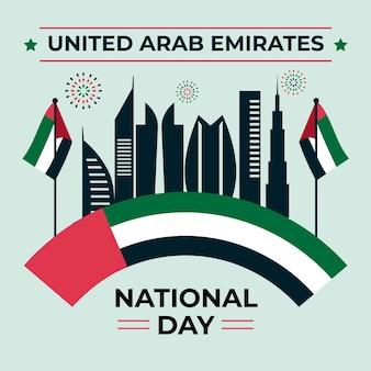Design piatto per la celebrazione della giornata nazionale degli emirati arabi uniti