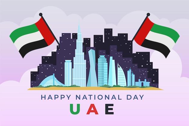 Design piatto celebrazione della giornata nazionale degli emirati arabi uniti