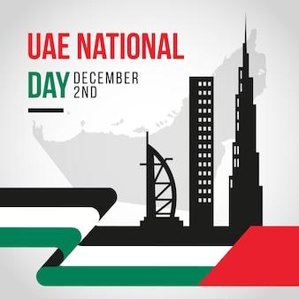 Celebrazione della giornata nazionale degli emirati arabi uniti piatta