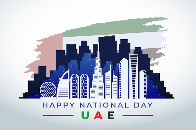 Design piatto della giornata nazionale degli emirati arabi uniti