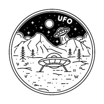 Badge ufo o logo ufo