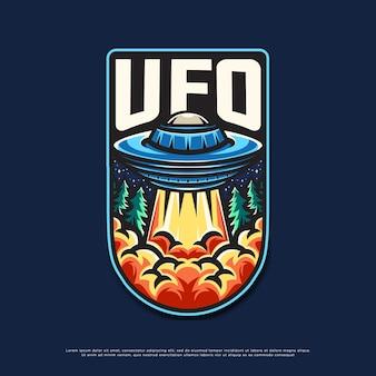 Disegno del logo della mascotte di ufo