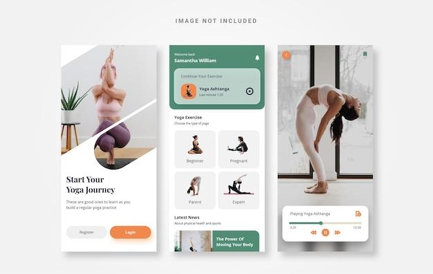 Ui design yoga kuy app di allenamento semplice
