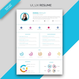 Modello ui / ux resume / cv