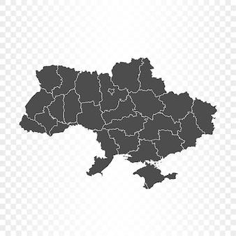 Ucraina mappa rendering isolato