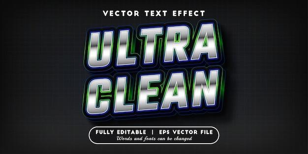 Effetto di testo ultra pulito, stile di testo modificabile