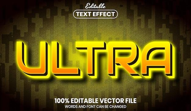Ultra text, effetto testo modificabile in stile carattere font