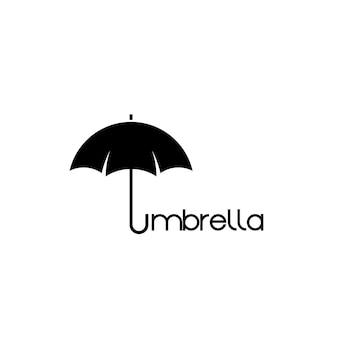 Modello di progettazione del logo dell'ombrello