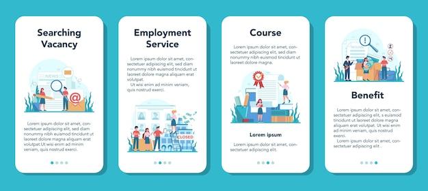 Servizio online o set di piattaforme per disoccupati