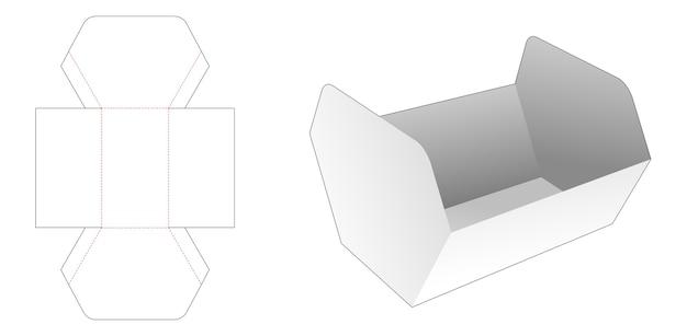 Vassoio di forma esagonale disuguale con sagoma fustellata del coperchio
