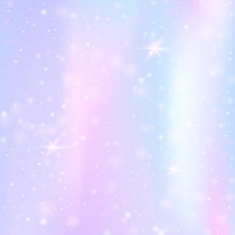 Sfondo di unicorno con maglia arcobaleno. striscione colorato universo in colori principessa.