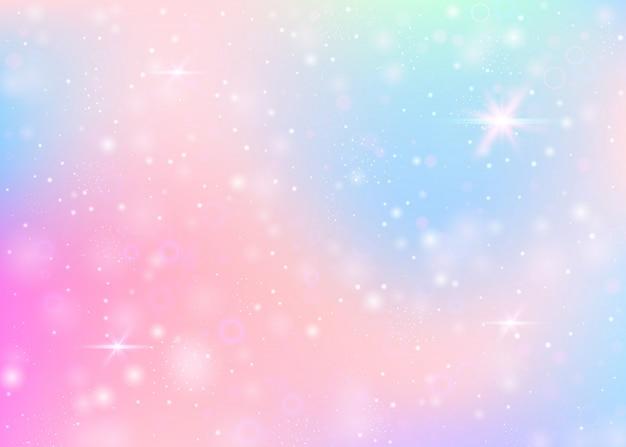 Sfondo di unicorno con maglia arcobaleno.