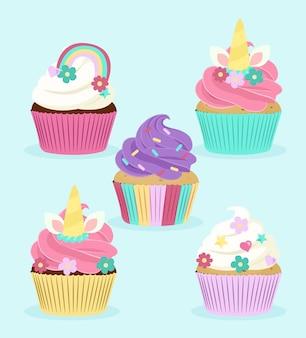 Set di cupcake unicorno