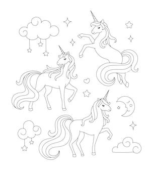 Disegno di unicorno da colorare