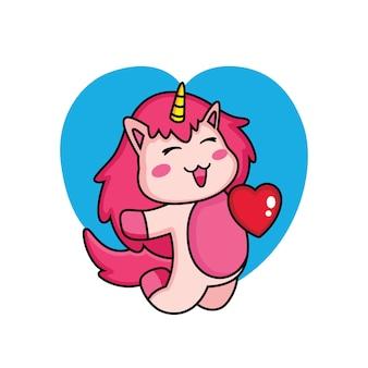 Espressione di unicorno nel fumetto di amore