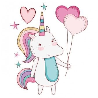 Fumetto di disegno di fantasia di unicorno