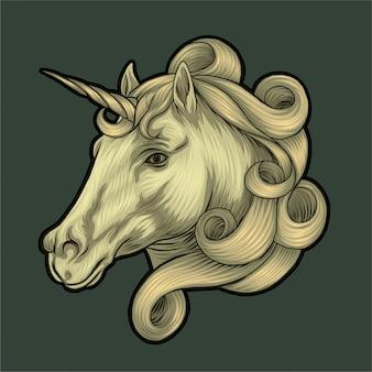 Illustrazione di unicorno
