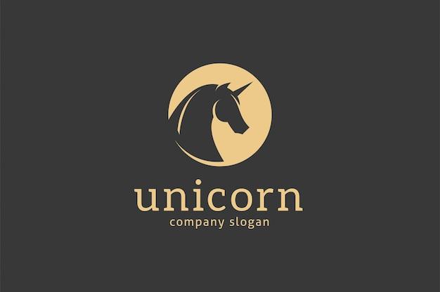 Modello di logo di unicorno