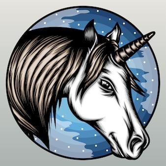 Unicorno di notte.