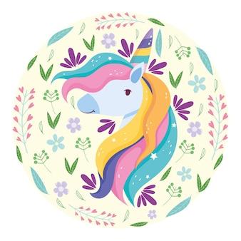 Capelli arcobaleno unicorno