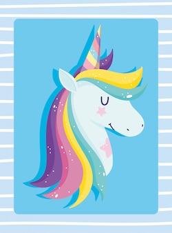 Unicorno con i capelli arcobaleno