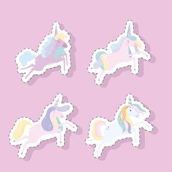 Set di adesivi unicorni