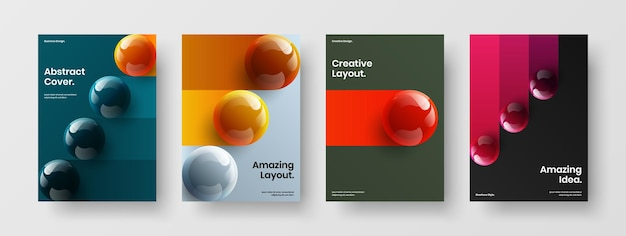 Collezione di illustrazioni vettoriali di design a4 con copertina di libro unica