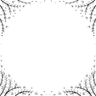 Cornice floreale unica