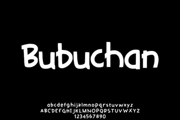 Set di vettori di alfabeto disegnato a mano unico